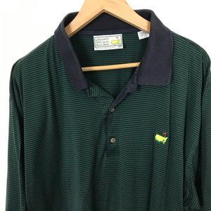 Augusta National Golf Men Striped XXL Polo Shirt